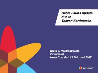 Cable Faults update due to  Taiwan Earthquake