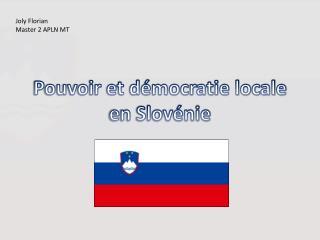 Pouvoir et d�mocratie locale en Slov�nie