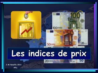 Les indices de prix