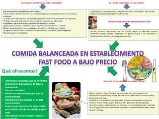 Qué significa comer balanceado y saludable?
