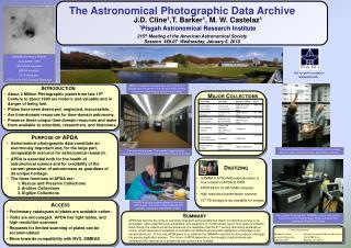 J.D.  Cline 1 ,T. Barker 1 , M. W. Castelaz 1 1 Pisgah Astronomical Research Institute