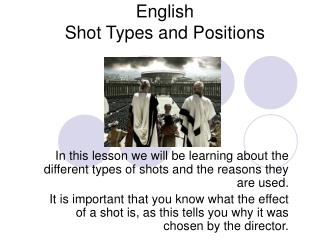 English Shot Types and Positions