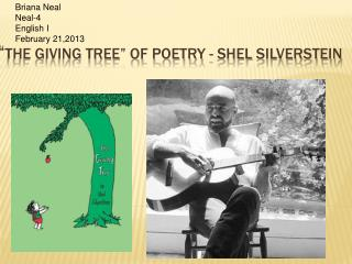 � The Giving Tree� of Poetry -  Shel silverstein
