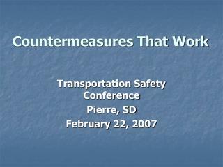 Countermeasures That Work