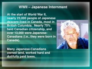 WWII – Japanese Internment