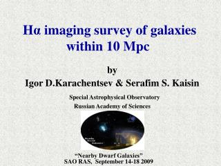 H α  imaging survey of galaxies  within 10 Mpc