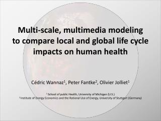 Multi-scale, multimedia modeling to compare local and global life cycle impacts on human health