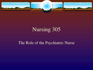 Nursing 305