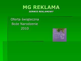 MG REKLAMA SERWIS REKLAMOWY