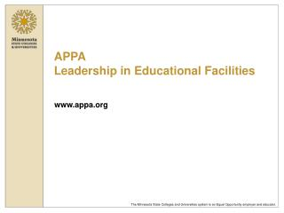 APPA Leadership in Educational Facilities