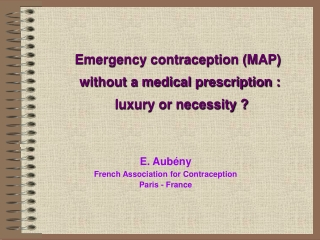 Emergency Contraception EC
