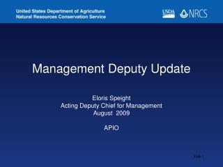 Management Deputy Update