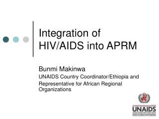 Integration of HIV/AIDS into APRM