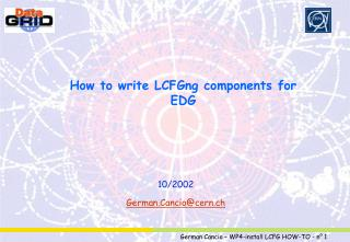 How to write LCFGng components for EDG
