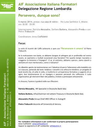 AIF Associazione Italiana Formatori  Delegazione Regione Lombardia