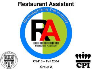 Restaurant Assistant
