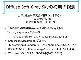 Diffuse Soft X-ray Sky の初期の観測