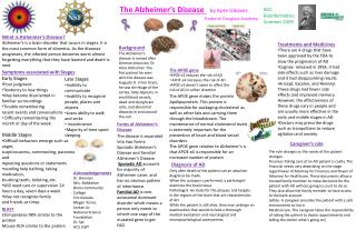 The Alzheimer's Disease  by  Apre Gleaves Frederick Douglass Academy
