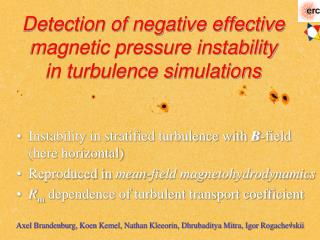 Detection of negative effective magnetic pressure instability in turbulence simulations