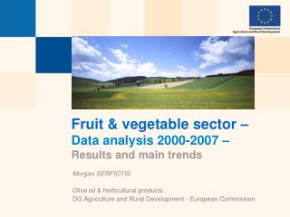 Fruit & vegetable sector –  Data analysis 2000-2007 – Results and main trends