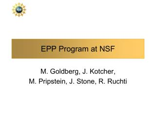 EPP Program at NSF