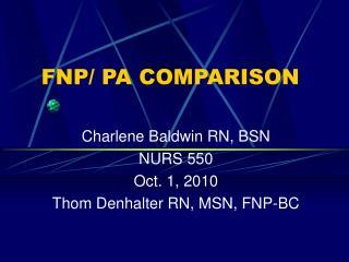 FNP/ PA COMPARISON