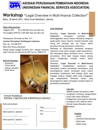 ASOSIASI PERUSAHAAN PEMBIAYAAN INDONESIA (INDONESIAN FINANCIAL SERVICES ASSOCIATION)