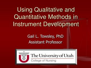 Using Qualitative and Quantitative Methods in Instrument Development
