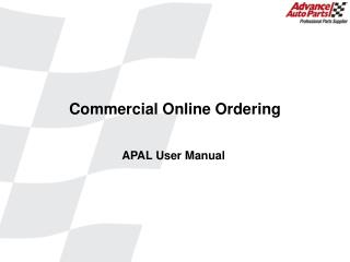 Commercial Online Ordering