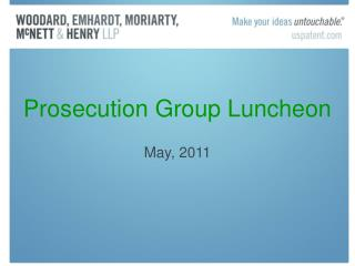 Prosecution Group Luncheon