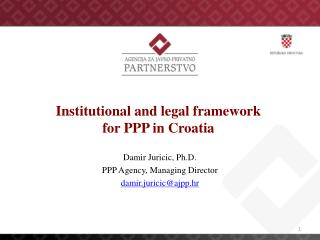 Institutional and legal framework for PPP in Croatia