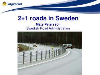 2+1 roads in Sweden
