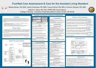 Foot/Nail Care Assessment & Care for the Assisted Living Resident