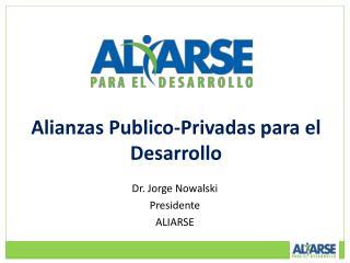 Alianzas Publico-Privadas para el Desarrollo