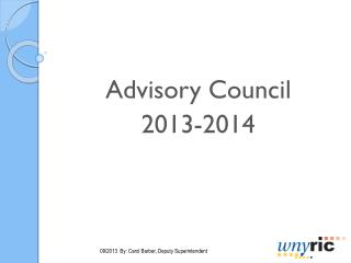 Advisory Council 2013-2014