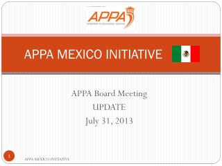 APPA MEXICO INITIATIVE