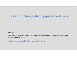 Source : Centre d'études et de recherche en enseignement supérieur (CERES). Denis Bédard, Ph.D.
