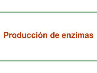 Producci�n de enzimas