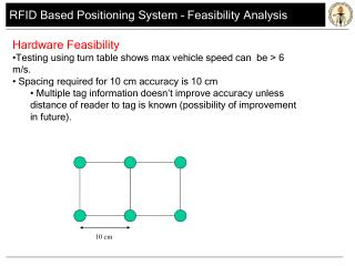 RFID Based Positioning System � Feasibility Analysis