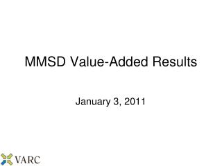 MMSD Value-Added Results