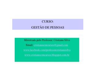 CURSO:  GESTÃO DE PESSOAS