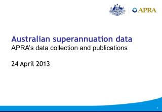 Australian superannuation data APRA's data collection and publications 24 April 2013