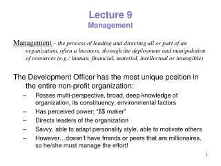 Lecture 9 Management