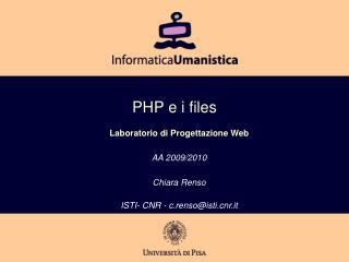 PHP e i files