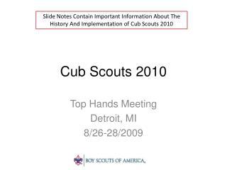 Cub Scouts 2010