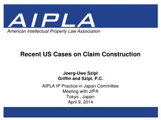 Recent US Cases on Claim Construction