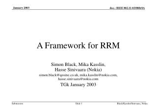 A Framework for RRM