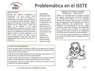 Problemática en el ISSTE