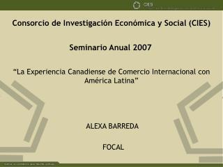 Consorcio de Investigación Económica y Social (CIES)