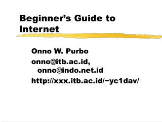 Beginner's Guide to Internet